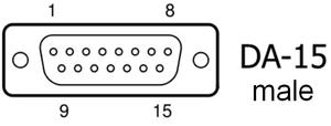 Game port - Image: DA 15 D Sub M