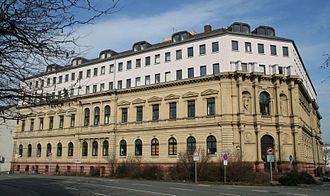 Danatbank - Former building of the Darmstädter Bank für Handel und Industrie in Darmstadt