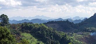 Chai Prakan District - View from road 1340 in Chai Prakan District of the Daen Lao Range