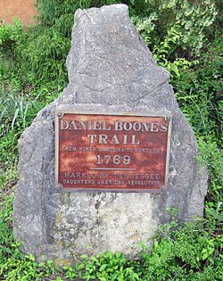 Daniel boone%27s 1769 trail marker, mountain city, tn
