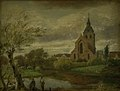 Dankvart Dreyer - St Knud's Church by the River in Odense. Autumn - KMS1678 - Statens Museum for Kunst.jpg