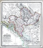 Das Fürstentum Montenegro im Jahre 1862