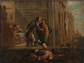 Tobit and the Dead Israelite (after Domenico Fetti)