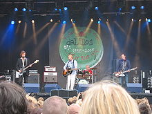 deLillos live at the Øya festival in 2005 (from left) Lars Fredrik Beckstrøm, Lars Lillo-Stenberg, Øystein Paasche and Lars Lundevall.
