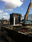 De Julianasluis in Gouda met de nieuwe kolk in aanbouw (05).JPG