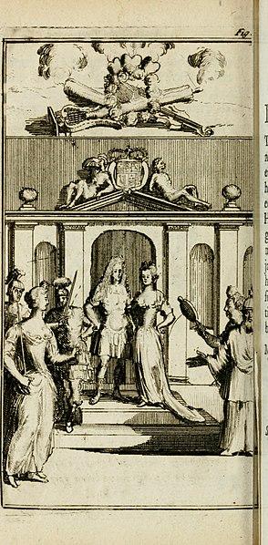File:De konincklycke triumphe - vertoonende alle de eerpoorten, met desselfs besondere sinne-beelden, en hare beschryvinge, ten getale van in de 60, opgerecht in s' Gravenhage 1691 ter eere van Willem de (14561331389).jpg