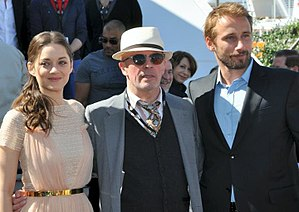 Rust and Bone - Marion Cotillard, Jacques Audiard, and Matthias Schoenaerts at the 2012 Cannes Film Festival.