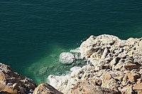el tema las aguas estancadas los lagos de agua salada, sus caracteristicas, ejemplos del mundo. 200px-Dead_Sea_Salt