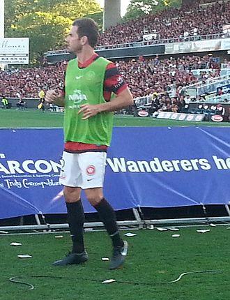 Dean Heffernan - Heffernan warming up for the Western Sydney Wanderers in 2013