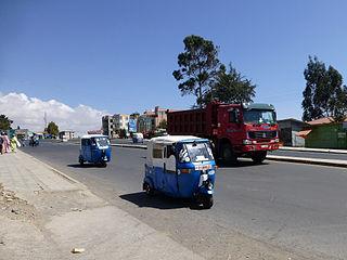 Debre Berhan City in Amhara Region, Ethiopia
