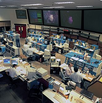 NASA Deep Space Network - Deep Space Network Operations Center at JPL, Pasadena (California) in 1993.