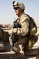 Defense.gov News Photo 101026-M-6340O-031 - U.S. Marine Corps Cpl. Daniel J. Groh with Police Mentoring Team 1 3rd Battalion 5th Marine Regiment Regimental Combat Team 2 provides.jpg