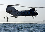 Defense.gov News Photo 111117-N-SK590-189 - A Marine jumps from a CH-46 Sea Knight helicopter assigned to Marine Medium Helicopter Training Squadron 164 during a training exercise in San.jpg