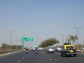 Road signs in India - Gurgaon Expressway