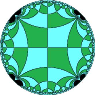 Rhombitetraapeirogonal tiling - Image: Deltoidal tetraapeirogonal tiling