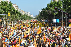 Catalan independence referendum, 2017 - Demonstration for Catalan independence in 2010