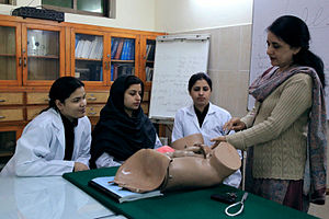 Services Hospital - Demonstration on a model - Services Institute of Medical Sciences
