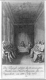 Der Congress erklärt die 13 vereinigten Staaten von Nord-America für independent am 4ten July 1776.jpg