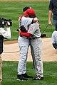 Derek Jeter hugging Hideki Matsui.jpg