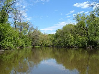 Des Plaines River - Typical section of Des Plaines River in Lake County, Illinois.