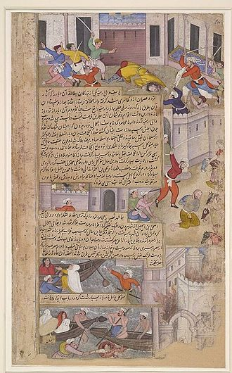 Karbala - Destruction of the Tomb of Husain at Karbala on the orders of Caliph al-Mutawakkil.
