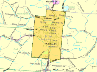 Wellston, Ohio - Image: Detailed map of Wellston, Ohio
