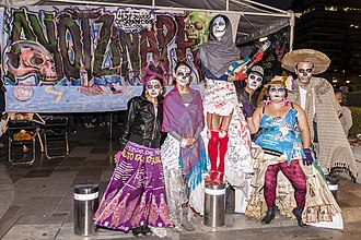 Day of the Dead - Day of the Dead protest related to the forced kidnapping of 43 students in Iguala