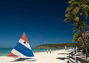 Dickenson Bay Beach in Antigua