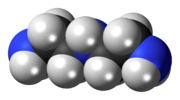 Spacefill model of diethylenetriamine
