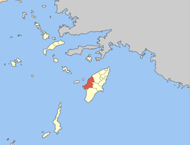 Location within the Regional Unit of Rhodes