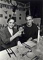 Diner aangeboden door Pierre Bloemen van Kraantje Lek, aan Yvonne van Gennip en haar vrienden en familie na het behalen van de Olympische successen. Aangekocht van United Photos de Boer bv. - negatief.JPG