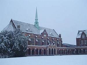 St John's School, Leatherhead - St John's Dining Hall in the snow