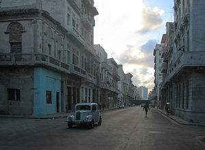 British Ford Anglia in Havana