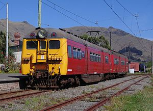 New Zealand DM class electric multiple unit - Dm 27/D 163 at Ferrymead Station on the Ferrymead Railway in March 2016.