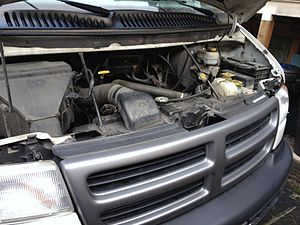 Dodge Ram Van - Third-generation Dodge Ram Van engine bay