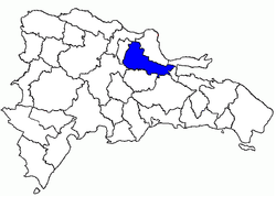 Location of the Duarte Province