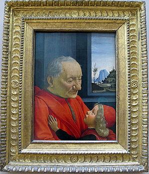 Domenico ghirlandaio, ritratto di anziano con fanciullo, 1490 ca. 01.JPG