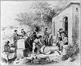 Dominican Republic, 1871)- The Diago Columbus Spring on the Ozania River, ... Seamen filling casks with fresh water LCCN2003655462.jpg