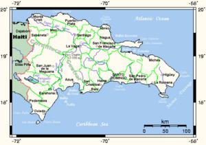 Islam in the Dominican Republic - Map of the Dominican Republic