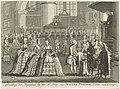 Doop van prins Willem Frederik, 1772 Afbeelding der Plegtigheid by den H. Doop, van Willem Frederik Prince van Orange (titel op object), RP-P-OB-84.819.jpg