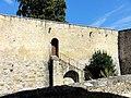 Dourdan (91), château, courtine sud 1.jpg