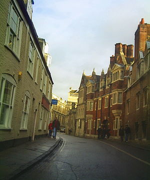 Pembroke Street, Cambridge - Toward Pembroke Street through Downing Street.