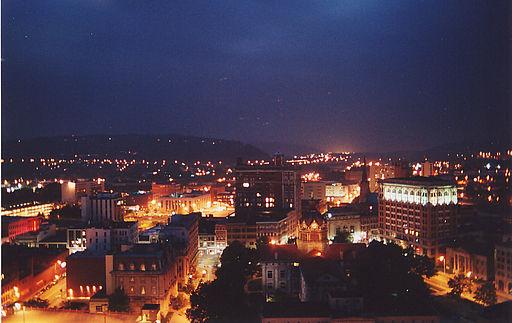 Downtown Binghamton at Night