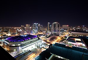 History of Phoenix, Arizona - Downtown Phoenix at night