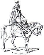 Dragone a cavallo della Vecchia Guardia Adolphe de Chesnel