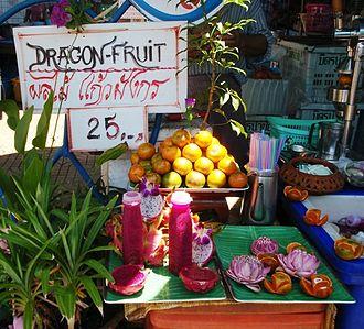 Pitaya - Selling dragon fruit juice in Thailand