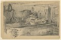 Drawing, Interior of a Bavarian Cattle Stable; Study for the Head of an Ox, 1876 (CH 18175967).jpg
