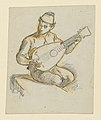 Drawing, Seated boy playing a lute, ca. 1890 (CH 18404407).jpg