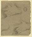 Drawing, Study- Three left hands, 1725–1775 (CH 18118791).jpg