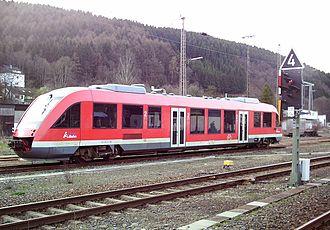 Finnentrop–Freudenberg railway - Dieseltriebwagen der DB-Baureihe 640 des Biggesee-Express in Finnentrop
